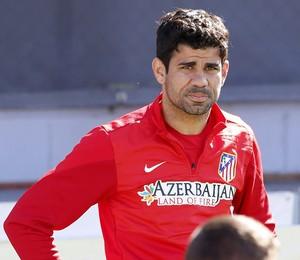 Diego Costa no treino do Atletico de Madrid (Foto: EFE)