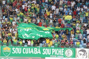 Torcida Cuiabá, final Copa Verde, 2015 (Foto: Christian Guimarães)
