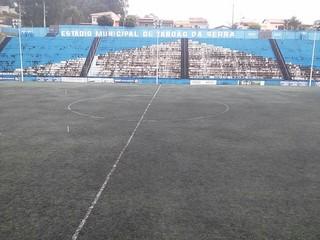 Estádio Vereador José Ferez, Taboão da Serra, x Grêmio Prudente (Foto: Luciano Sanches / Rádio Comercial AM, Cedida)
