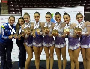 Conjunto brasileiro domina Campeonato Pan-Americano de ginástica rítmica