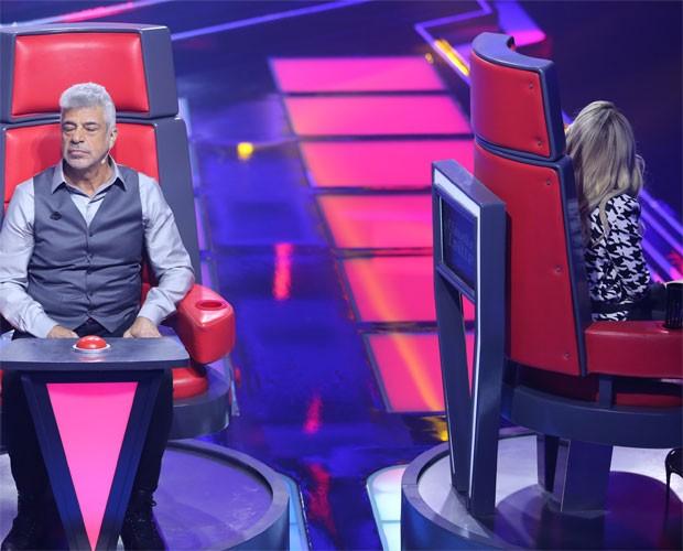 Momento exato em que Claudia Leitte vira a cadeira para Nise (Foto: (Foto: Isabella Pinheiro/TV Globo)