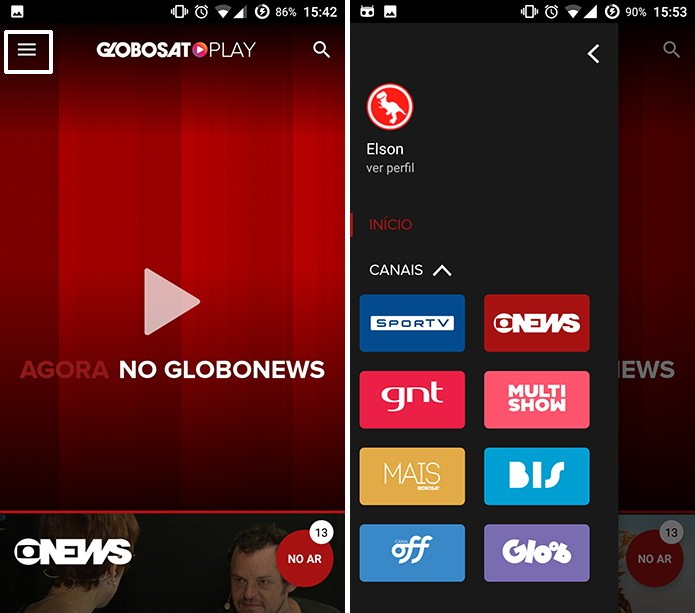 Globosat Play traz programas sob demanda nas páginas dos canais (Foto: Reprodução/Elson de Souza) (Foto: Globosat Play traz programas sob demanda nas páginas dos canais (Foto: Reprodução/Elson de Souza))