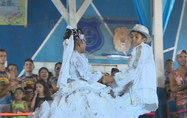 Coreografia e harmonia do casal, fazem parte dos requisitos (Foto: Rondônia TV)
