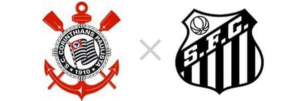 Corinthians x Santos (Foto: Reprodução)