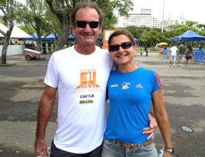 Carlos José de Oliveira Dias e Maria Rita, Corrida Eu Atleta 10K Rio 2012 (Foto: Luiz Cláudio Amaral / Globoesporte.com)