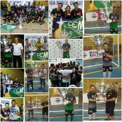 Mojuca é vice-campeão da Liga Norte de Futsal (Foto: Caio Brandão/ arquivo pessoal )