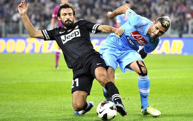Pirlo, Juventus e Napoli (Foto: Agência Reuters)