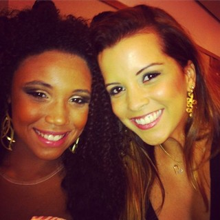 Renata Santos e Evelyn Bastos da Mangueira (Foto: Instagram / Reprodução)