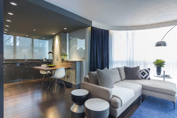 Apartamento masculino de 65 m com marcenaria inteligente for Fotos apartamentos modernos