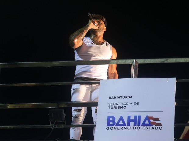 Tony Salles em show em Salvador, na Bahia (Foto: Thiago Duran e Fabio Moreno/ Ag. News)