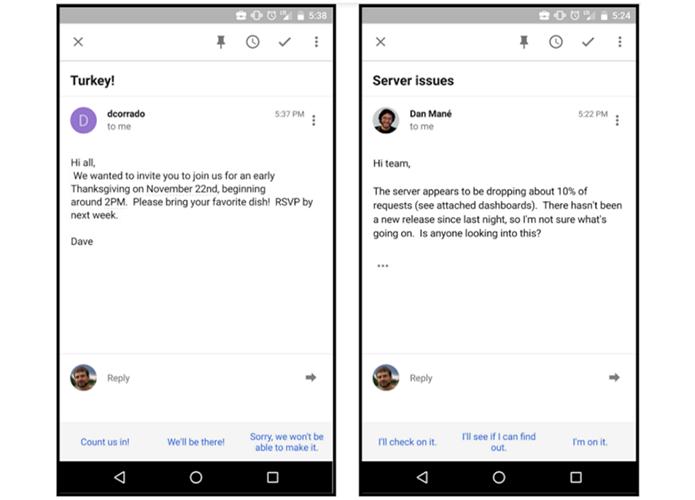 Inbox vai começar a mostrar respostas rápidas para e-mails (Foto: Divulgação/Google)
