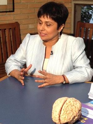 A britânica Karime Esmail estuda a discalculia (Foto: Ana Carolina Moreno/G1)