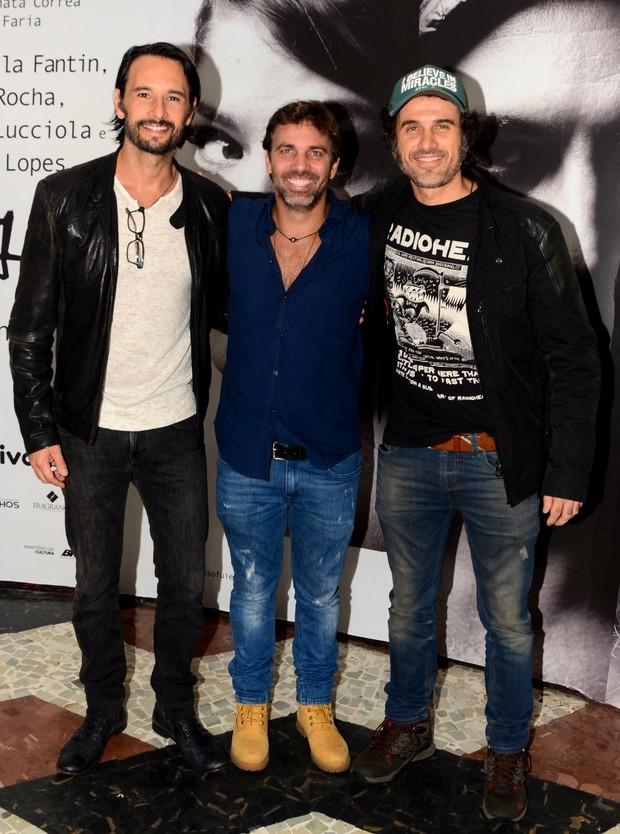 Rodrigo Santoro, Marcelo Faria e Eriberto Leão (Foto: Webert Belicio / Ag News)
