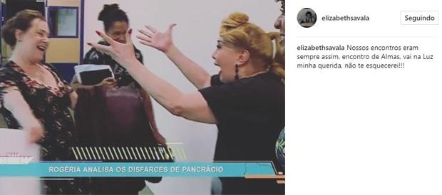 Elizabeth Savala lamenta morte de Rogéria (Foto: Reprodução/Instagram)