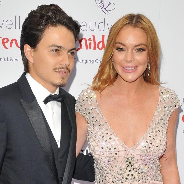 Egor Tarabasov e Lindsay Lohan (Foto: AKM-GSI)