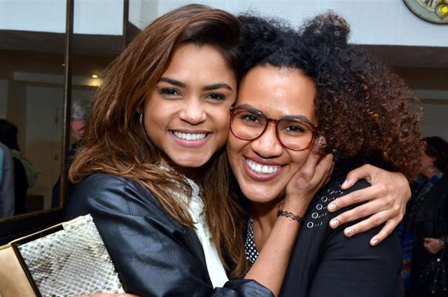 Lucy Alves e Mariene de Castro na estreia de 'Puro Ney' (Foto: Cristina Granato)