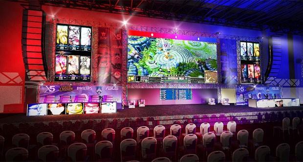 Palco do evrnto X5 Mega Arena que acontece em SP neste feriadão (Foto: Divulgação/X5 Mega Arena)