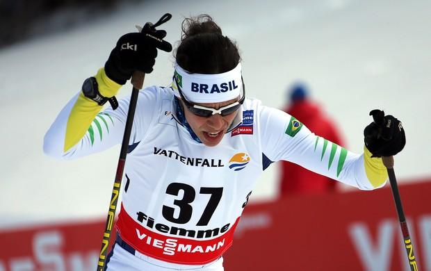 Esqui Cross country Jaqueline Mourão no Mundial da Itália (Foto: Agência AFP)