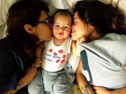 As filhas de Paloma Duarte com o irmã caçula (Foto: Reprodução / Instagram)