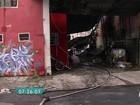 Incêndio atinge fábrica de recicláveis na Zona Sul de SP