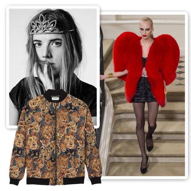 Peças-desejo Saint Laurent: as tiaras de princesa, o casaco em formato de coração e as jaquetas bomber  (Foto: Divulgação)