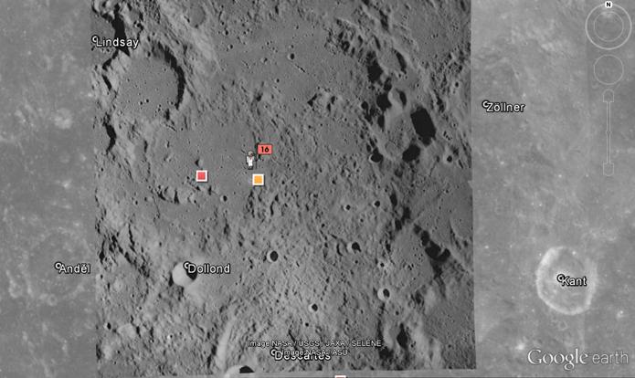 Passeio pelo aplicativo revela atividade humana no satélite natural do planeta (Foto: Reprodução/Google Earth)