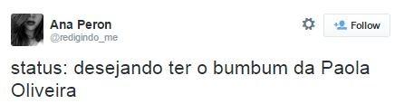 Tweets sobre Paolla Oliveira (Foto: Reprodução / Twitter)