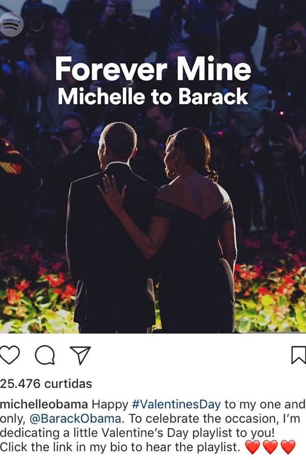 Michelle Obama e Barack Obama (Foto: Instagram/Reprodução)