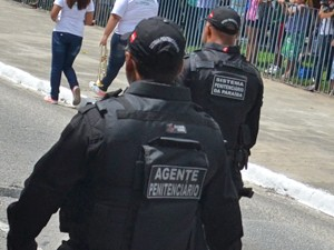 Agentes penitenciários fazem mobilização por cinco dias (Foto: Krystine Carneiro/Arquivo G1)