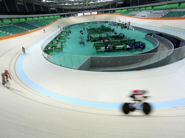 Velódromo foi entregue pela Prefeitura do Rio para o comitê organizador neste domingo (26) (Foto: Beth Santos/Prefeitura do Rio/Divulgação)