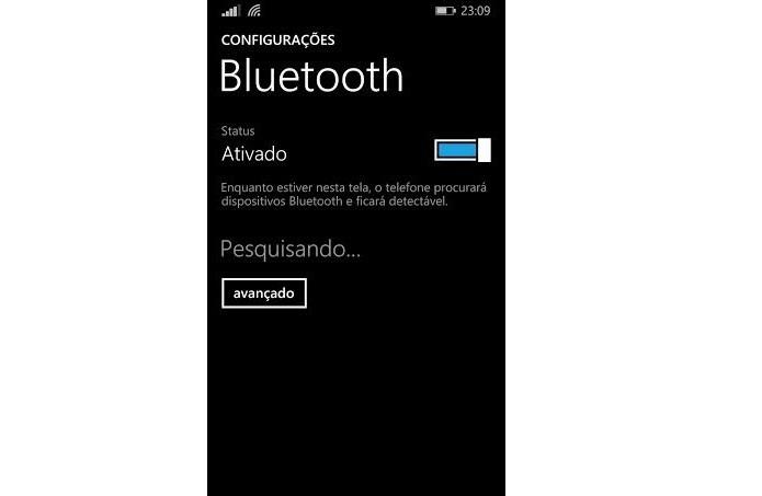 É preciso ativar o Bluetooth (Foto: Reprodução/Thiago Barros)