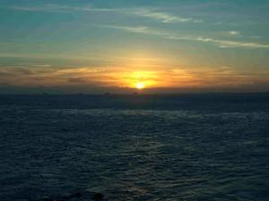 Pôr do sol no Farol da Barra, Bahia (Foto: Valma Silva / G1)