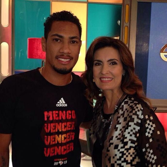 FUTEBOL - FLAMENGO - Hernane No Programa Encontro De Fátima Bernardes (Foto: Reprodução /  Instagram)