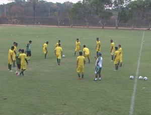 Rondoniense treina para confronto pelo Sub-20 (Foto: Reprodução/ TV Rondônia)