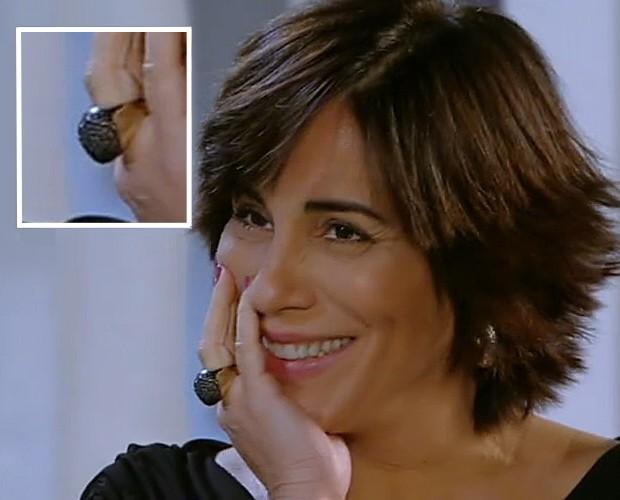 Roberta Leone arrasa com o anelão (Foto: Vídeo Show/TV Globo)
