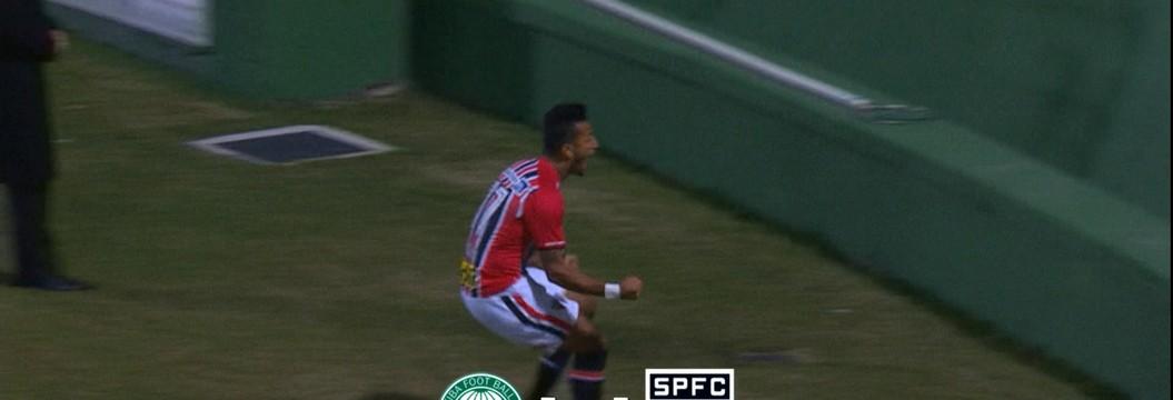 Rogério sai do banco e garante empate do São Paulo com o Coritiba