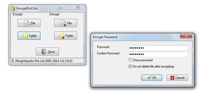 EncryptOnClick permite incluir senha em arquivos e pastas (Foto: Reprodução/Raquel Freire)