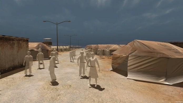 Notícia sobre campo de refugiados da guerra na Síria, transmitida em VR (Foto: Divulgação/Emblematic Group)
