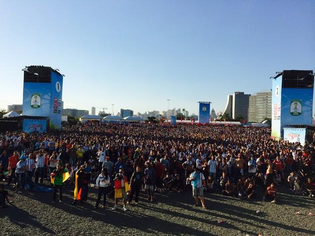 Fan Fest Porto Alegre (Foto: Guilherme Pontes/G1)
