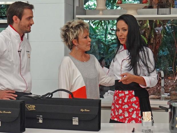 Dig Dutra é a segunda eliminada do Super Chef Celebridades (Foto: Mais Você / TV Globo)