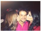 Se deu bem! Ex-BBB Adrilles ganha beijo de Tamires em festa