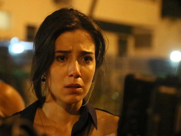 Marjorie Estiano grava cena de desespero nas ruas do Rio (Foto: Carol Caminha/Gshow)