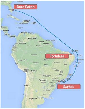 Cabo submarino que será instalado até o fim de 2016 por Google, Algar Telecom, Antel e Angola Cables terá 10,5 mil km. (Foto: Divulgação/Google)
