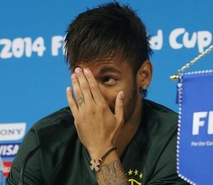 neymar luiz felipe scolari felipão coletiva seleção brasileira (Foto: Jefferson Bernardes/Vipcomm)
