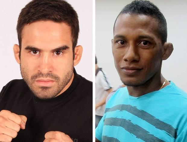 montagem Iuri Marajó x Pedro Nobre MMA (Foto: Editoria de Arte / Globoesporte.com)