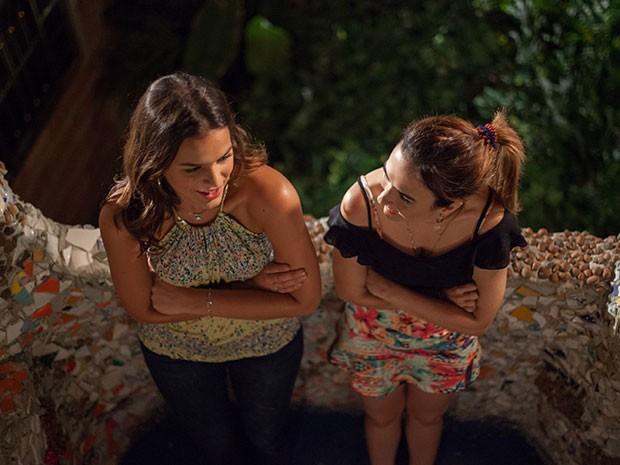 As irmãs se animam com a possibilidade de vida nova (Foto: Fabiano Battaglin/Gshow)