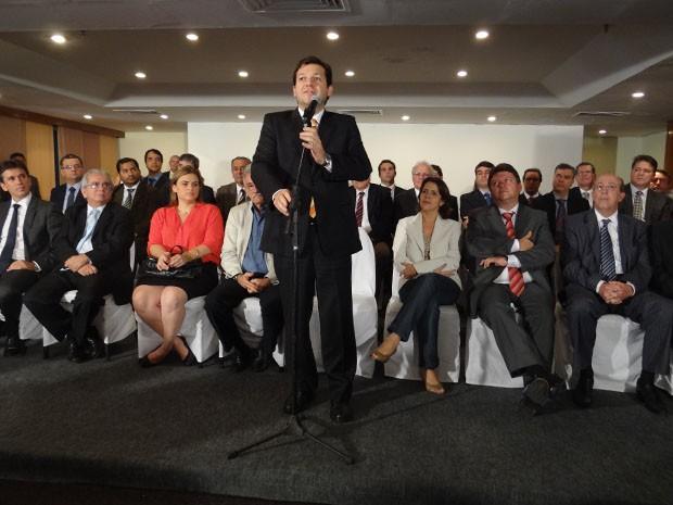 Prefeito eleito do Recife Geraldo Julio anuncia secretariado  (Foto: Katherine Coutinho/G1)