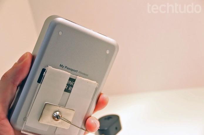 O My Passport Wireless estará disponível no Brasil em breve (Foto: Fabrício Vitorino/TechTudo)