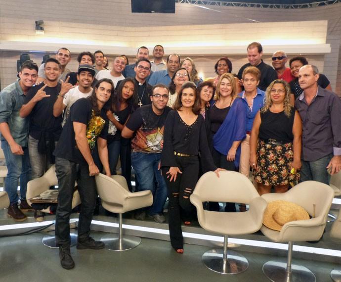 Plateia se diverte nos bastidores (Foto: Viviane Figueiredo Neto/Gshow)