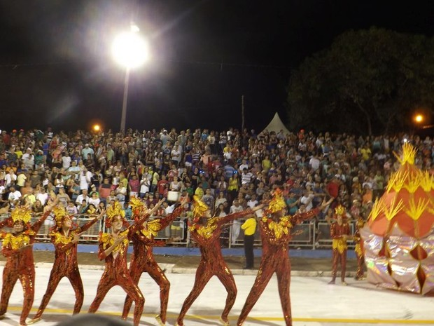 Ala da Azulão do Morro que levou o samba-enredo sobre a energia para avenida  (Foto: Renata Marconi/ G1)